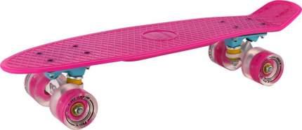 """Мини-круизер RGX PNB-01GW Pink (22"""") светящиеся колеса"""