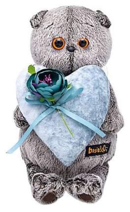 Мягкая игрушка BudiBasa Басик с сердцем из бархата, 25 см