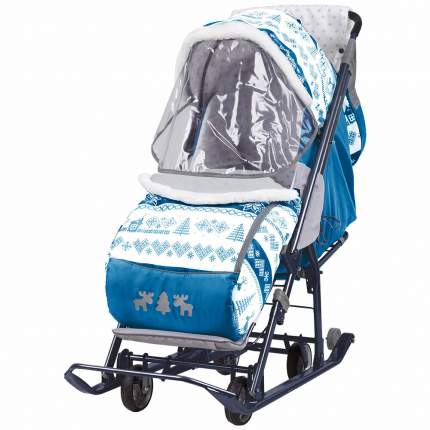 Санки-коляска Ника Наши Детки НДТ-3 Скандинавия синий