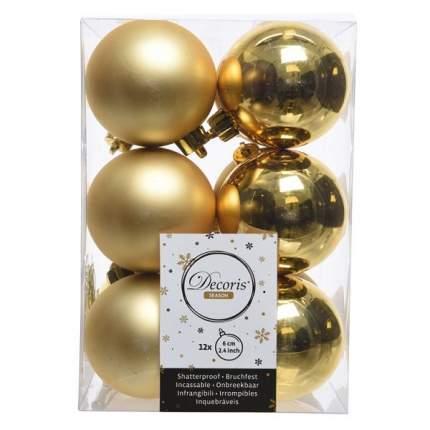 Набор шаров на ель Новый год 6 см 958116 12 шт