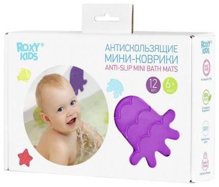 ROXY-KIDS Антискользящие мини-коврики для ванны. Цвета 12 шт