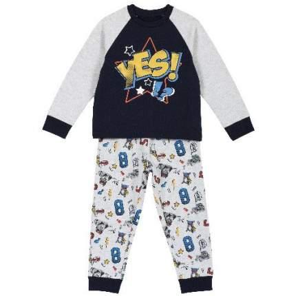 Пижама детская Chicco, цв. серый р.116