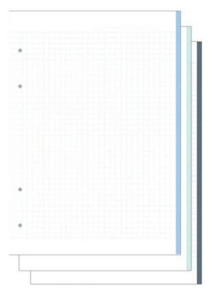 """Сменный блок """"Цветной"""", 120 листов, в клетку, 21 х 29,7 см"""