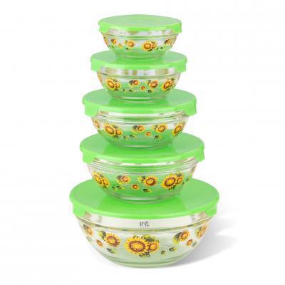 Набор стеклянных салатников IRIT GLSA-5-002