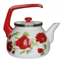 Чайник для плиты Interos Каркаде 3,0л эмалированный с кр.