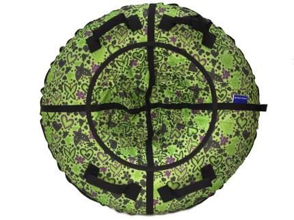 Тюбинг Мистер Вело Standart Бабочки зеленые 105 см