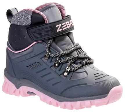 Ботинки детские Зебра, цв.серый р.30