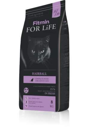 Сухой корм для кошек Fitmin For Life Hairball, для длинношерстных пород, 8кг
