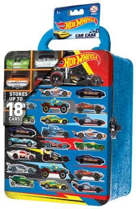 Кейс Hot Wheels для хранения 18 машинок, голубой