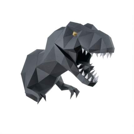 Трофейная голова PAPERRAZ Динозавр ЗАВР (графитовый)
