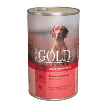 Консервы для собак NERO GOLD Adult Dog Formula, свежая оленина, 1250г