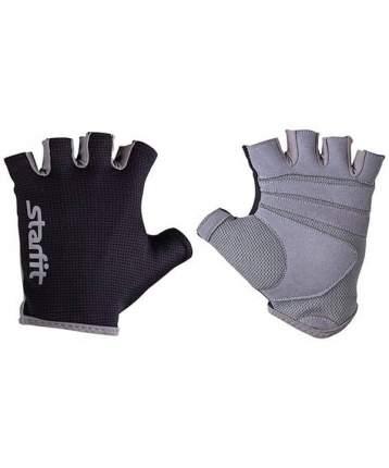 Перчатки для тяжелой атлетики StarFit SU-127, черный/серый, XS