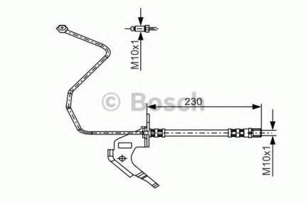 Шланг тормозной Bosch 1987481162