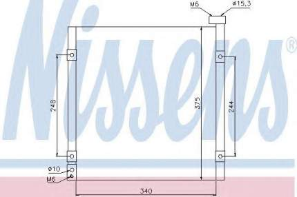 Радиатор кондиционера Nissens 94290