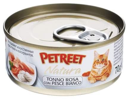 Консервы для кошек Petreet Natura, розовый тунец, дорадо, паштет, 70 г 12 шт