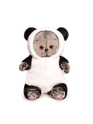 Мягкая игрушка BUDI BASA Кот Басик Baby в комбинезоне Панда 20 см
