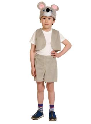 Карнавальный костюм ТД Карнавал для мальчиков мышонок серый