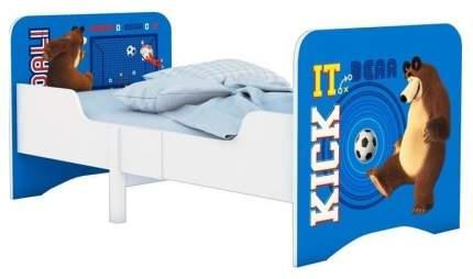Кровать Polini Kids Fun 3200 детская раздвижная Маша и Медведь синий