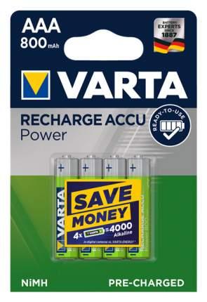 Аккумуляторная батарея Varta RECHARGE ACCU POWER 56703 4 шт