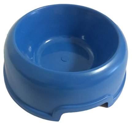 Одинарная миска для кошек и собак Мини класс, пластик, синий, 0.3 л