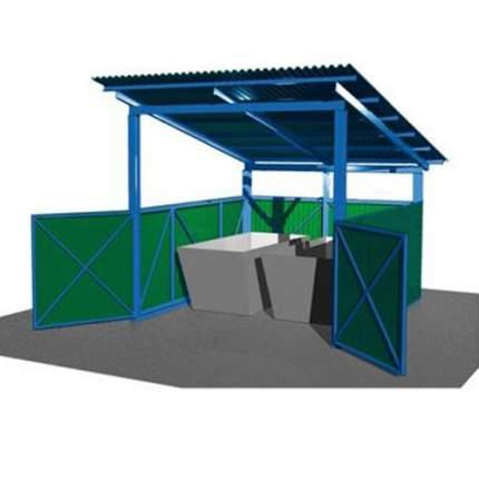 Навес для 2 мусорных бункеров 8м3 СКП 114