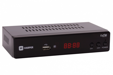 DVB-T2 приставка Harper HDT2-5050 black