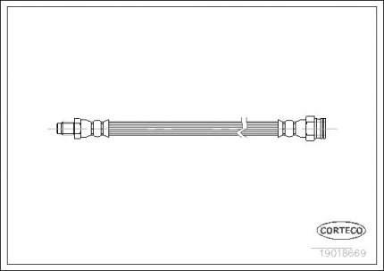 Шланг тормозной CORTECO 19018669
