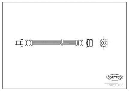 Шланг тормозной CORTECO 19026486