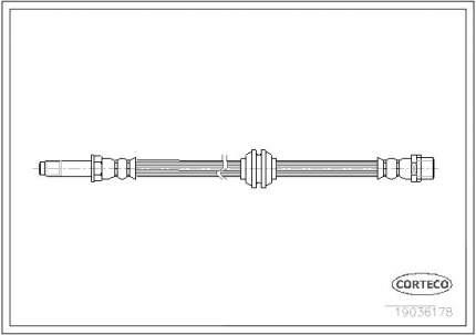 Шланг тормозной CORTECO 19036178