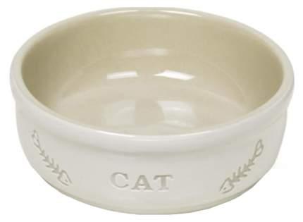 Одинарная миска для кошек Nobby, керамика, белый, 0.24 л