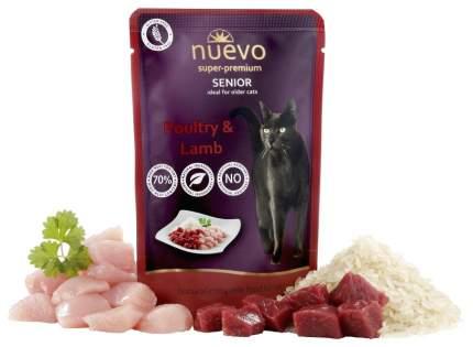 Влажный корм для кошек Nuevo Senior, для пожилых, курица с бараниной и рисом, 85г