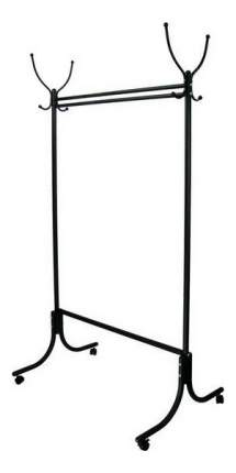 Вешалка Мебелик напольная на колесах М 13 Черный