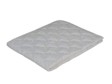 Одеяло облегченное МИ белое с цветочками