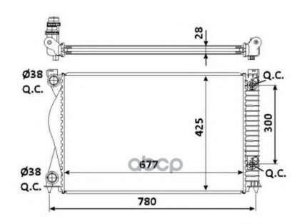 Радиатор системы охлаждения NRF 58234