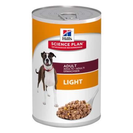 Консервы для собак Hill's Science Plan Light, курица, 370г