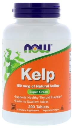 Минеральный комплекс NOW Kelp 200 табл. без вкуса