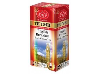 Чай черный в пакетиках для чашки Ти Тэнг English Breakfast 25*2.5 г