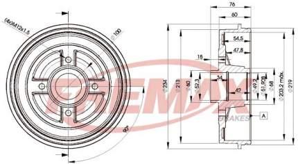 Тормозной барабан FREMAX BD-9322