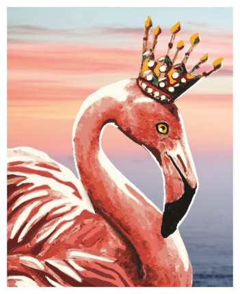 Алмазная живопись Color Kit Королевский фламинго M001