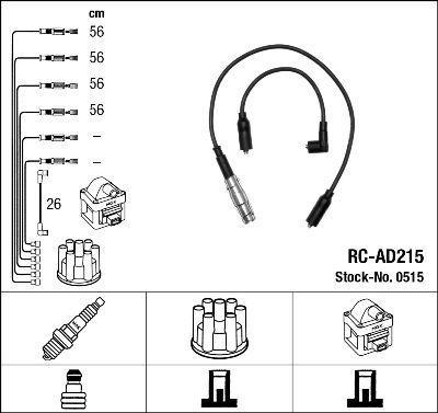 Комплект проводов зажигания NGK 0515