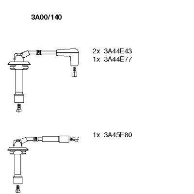 Комплект проводов зажигания BREMI 3A00/140