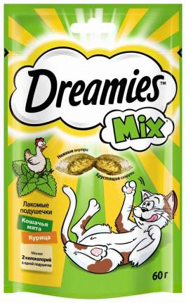Лакомство для кошек Dreamies Mix Кошачья мята и курица