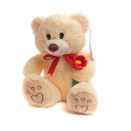 Мягкая игрушка Нижегородская игрушка Медведь маленький с цветком с вышивкой 45 см