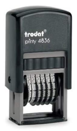 Нумератор Trodat Printy 4836. 6 разрядов. Высота шрифта: 3,8 мм.