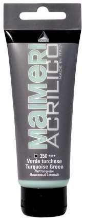 Акриловая краска Maimeri Acrilico M0916350 бирюзовый зеленый 75 мл