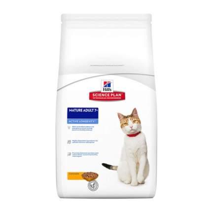 Сухой корм для кошек Hill's Science Plan Active Longevity Mature Adult 7+, курица, 10кг