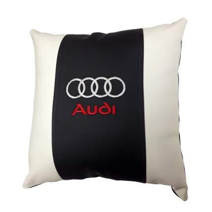 Декоративная подушка из экокожи с логотипом AUDI