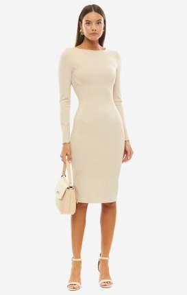 Платье женское OLGA SKAZKINA S130203L бежевое 48 RU