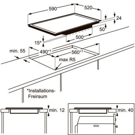 Встраиваемая варочная панель индукционная Electrolux EHX96455FK Black