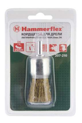Кистеобразная кордщетка для дрелей, шуруповертов Hammer Flex 207-210 (62125)